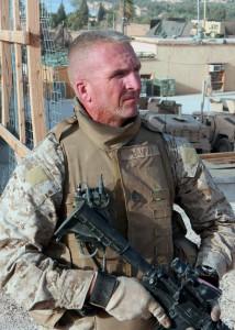 Gunnery Sergeant Jim Lanham, Kilo Company. Haqlaniyah, Iraq. June 2006.