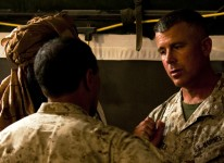 A former Taliban commander speaks to members of 1st and 3rd Battalion, 3rd Marines, May 2010.