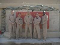 (L-R) 1LT John Burke, Capt Douglas Stevens, Capt Jaisun Hanson, 1st Sgt Michael Burke, GySgt Carl Eubanks.
