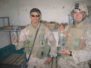 Lance Corporal Nicholas Kirven (L) and Corporal Troy Arndt (R), Kilo Company, Afghanistan.
