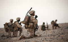 Lance Cpl. Jonathan Garvey, India Company. Nawa, Afghanistan. October 2010.