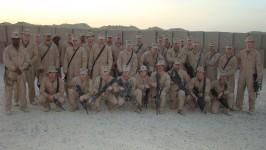 Kilo First Platoon, Camp Fallujah, Iraq. November 2007