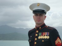 Corporal Justin Palmer, Hawaii, May 2010.