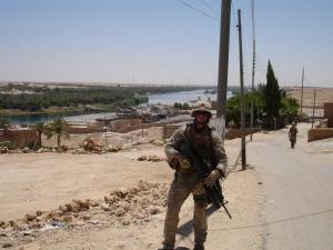 Kevin Dool. Haqlaniyah, Iraq. May 2006.