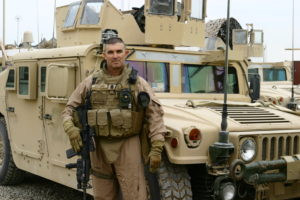 SgtMaj Walter Baldwin, Anbar Province, Iraq. December 2007.